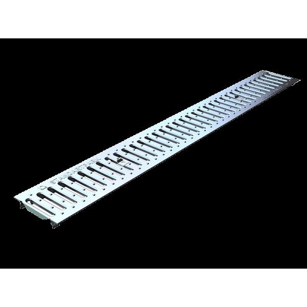 Решетка водоприемная Basic РВ-10.14.100-К штампованная стальная оцинкованная (20101)