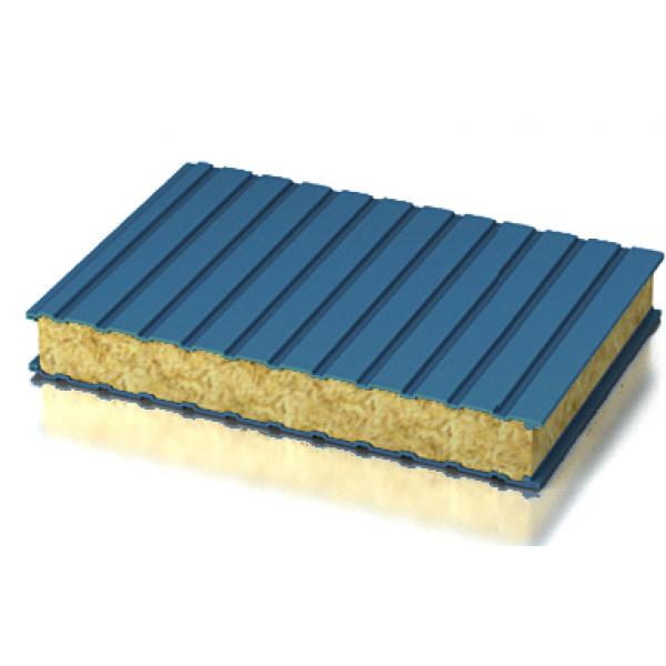 Стеновые трехслойные сэндвич-панели с наполнителем из минеральной ваты (длина от 2 до 14 м)