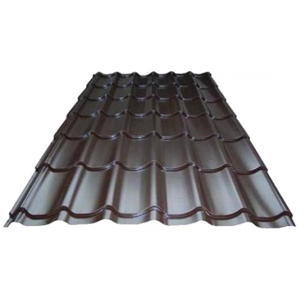 Металлочерепица Супермонтеррей 0,4мм RAL 8017(шоколад) м2