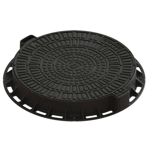 Люк Л-60.80.10-ПП пластиковый черный Лого (35188-80Л)