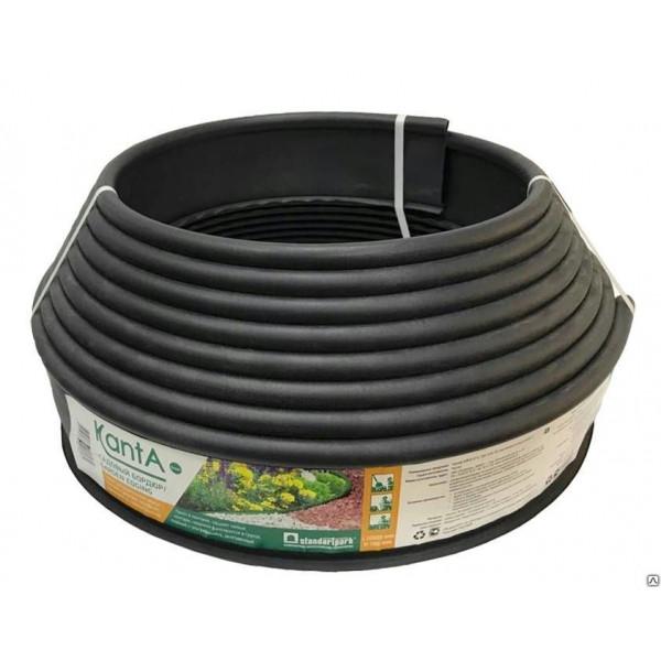 Бордюр KANTA SP Б-1000.10.02-ПП пластиковый черный (82552-Ч)