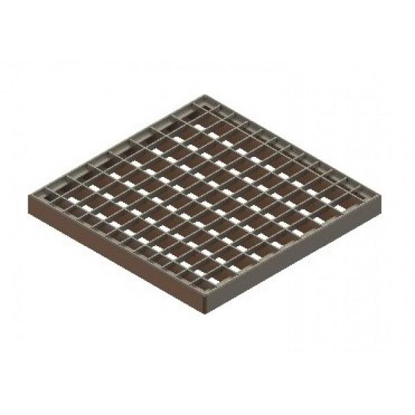 Решетка водоприемная Basic РВ-28.28 ячеистая стальная оцинкованная (3320)