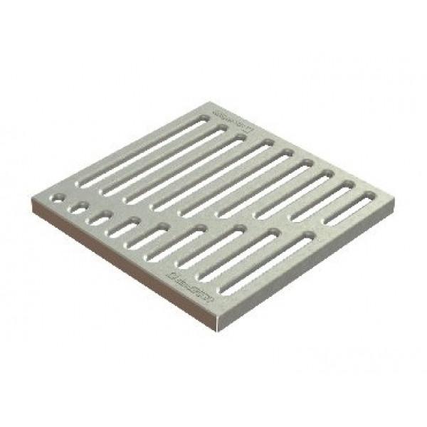 Решетка водоприемная Basic РВ-28.28 штампованная стальная оцинкованная «вершина» (33104)