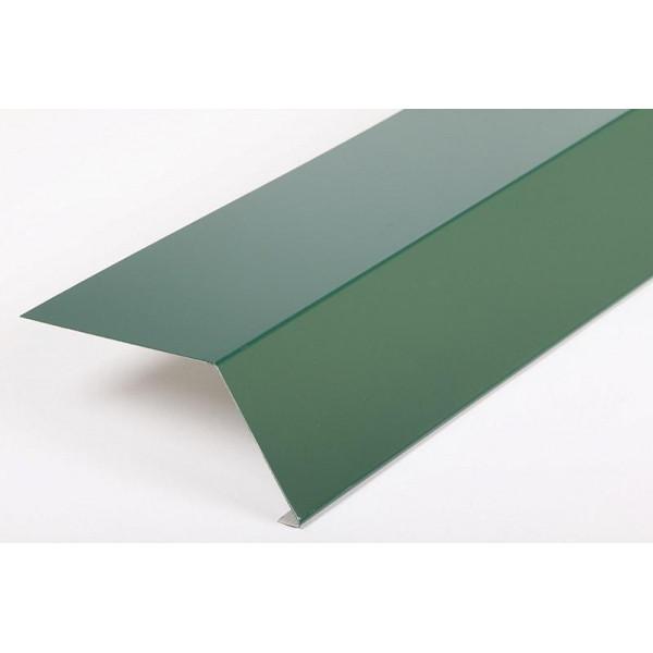 Планка карнизная для металлочерепицы 100*69*2000 (ПЭ - 6005 - ОН)