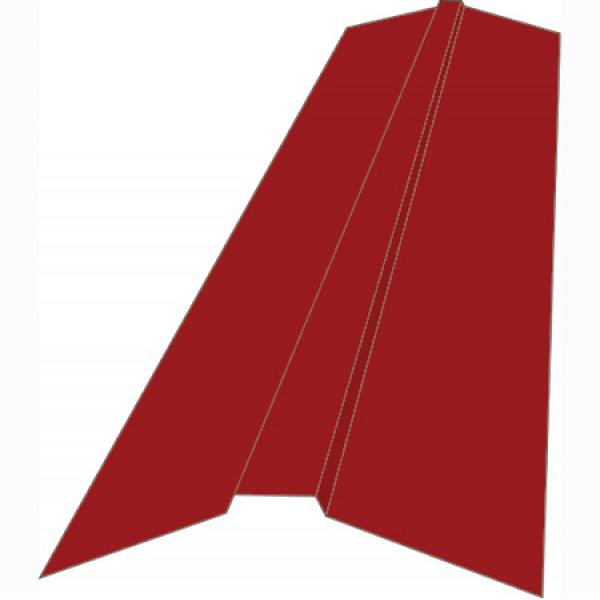Планка конька плоского для металлочерепицы 150х150х2000 (ПЭ - 3005 - ОН)