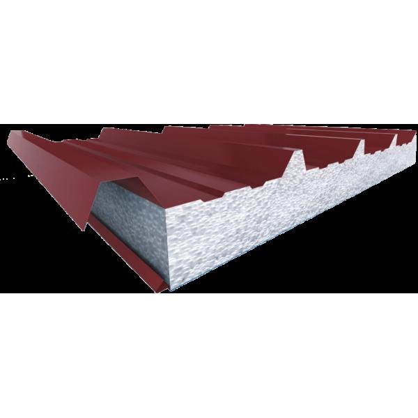 Кровельные трехслойные сэндвич-панели с наполнителем из пенополистирола (длина от 2 до 14 м)