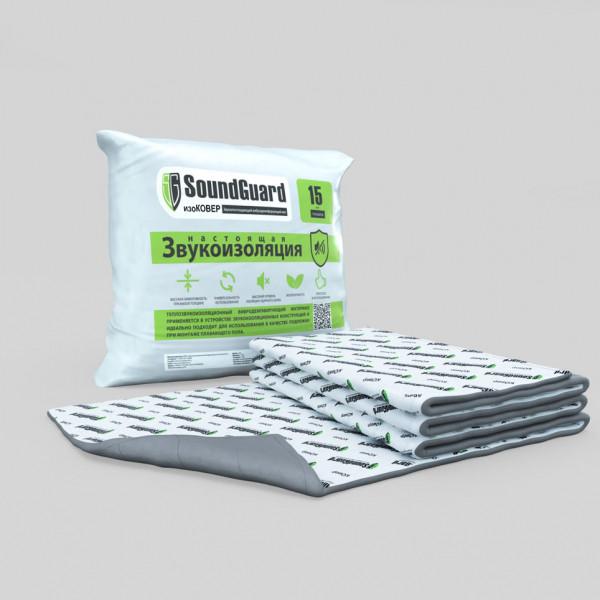 SoundGuard изоКОВЕР 5000х1500х15 мм (7,5 м2 в уп) - Звукоизоляционный мат