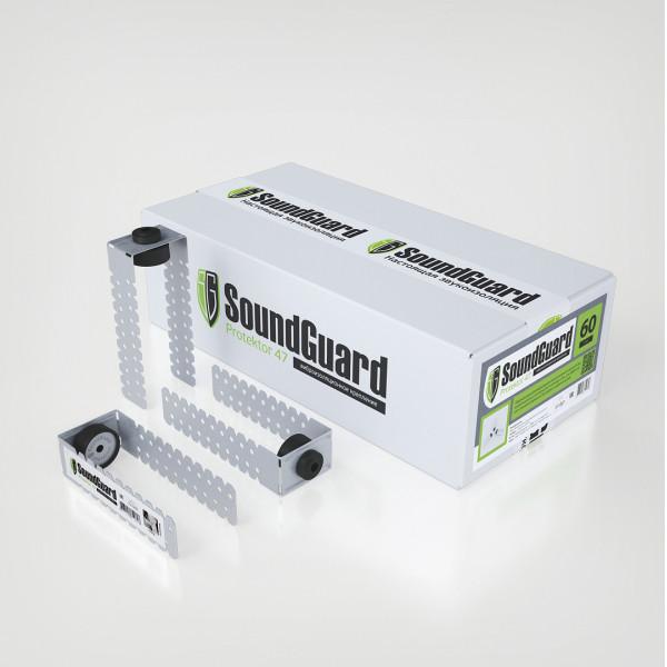 Виброизоляционное крепление SoundGuard Protektor 60 (60 шт/уп)