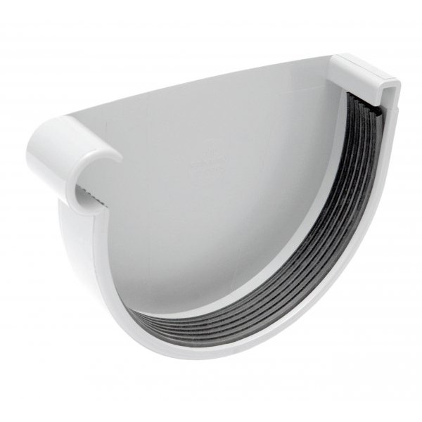 Заглушка  желоба D185 (RAL 9010 белый)