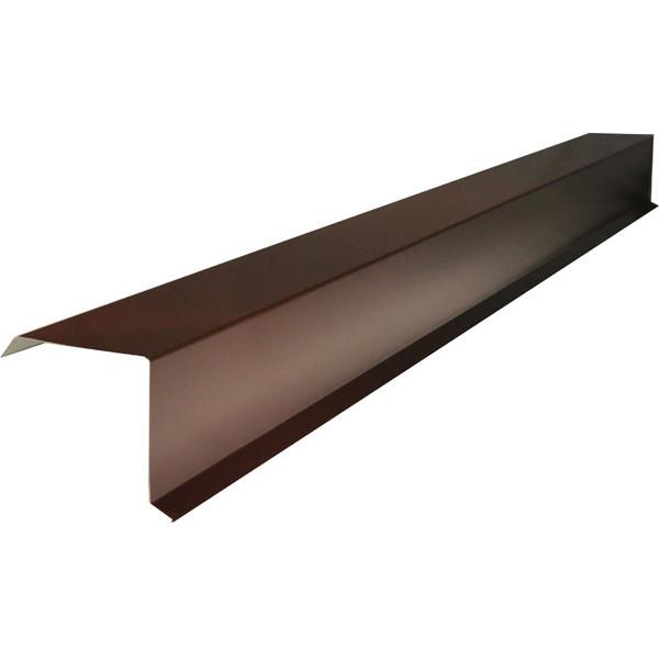 Планка торцевая для металлочерепицы 90х115х2000 (ПЭ-8017-ОН)