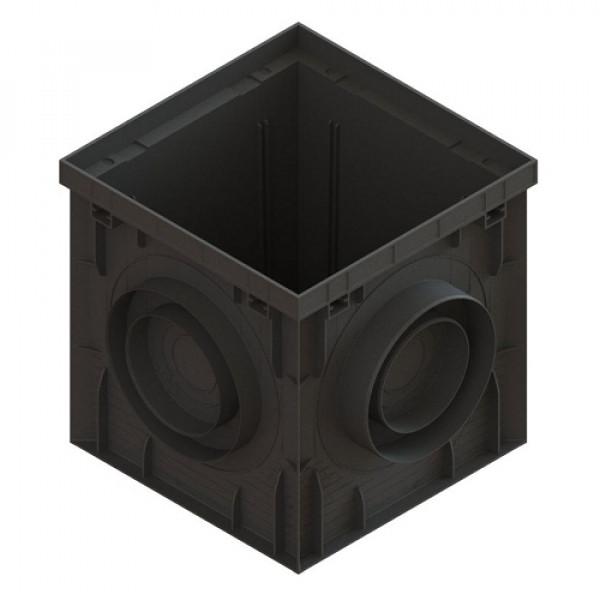 Дождеприемник PolyMax Basic ДП–30.30-ПП пластиковый черный (8370-М)