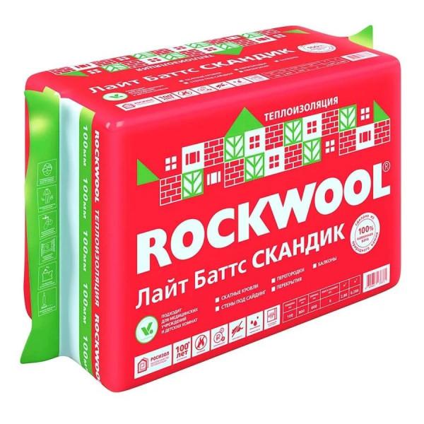ROCKWOOL ЛАЙТ БАТТС СКАНДИК 150 (5 плит/0,54м3)