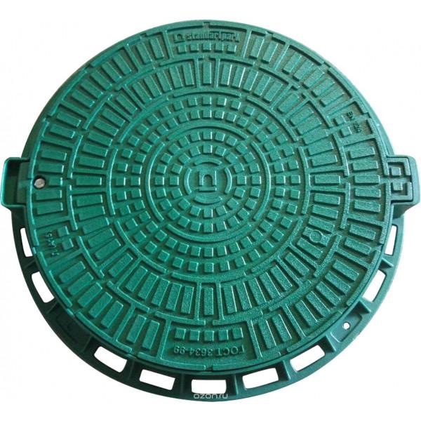 Люк Л-60.80.10-ПП пластиковый зеленый Лого (35188-82Л)