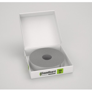 Демпферная виброгасящая лента SoundGuard ВиброЛента 50 х 4 мм (12 м.п/рул)