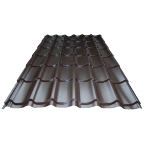 Металлочерепица Супермонтеррей 0,45мм RAL 8017(шоколад) длина - 1,5м, 335 руб/м2