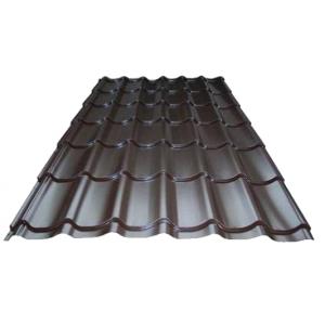 Металлочерепица Супермонтеррей 0,45мм RAL 8017(шоколад) м2