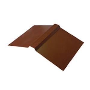 Планка конька плоского для металлочерепицы 150х150х2000 (ПЭ - 8017 - ОН)