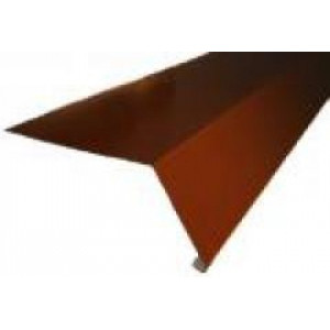 Планка карнизная для металлочерепицы 100*69*2000 (ПЭ - 8017 - ОН)