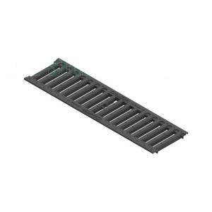 Решетка водоприемная PolyMax Basic РВ-10.14.50 щелевая пластиковая (208019)